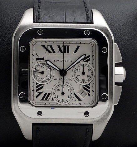 Cartier Santos 100 XL Chronograph in complete set & Pristine Condition