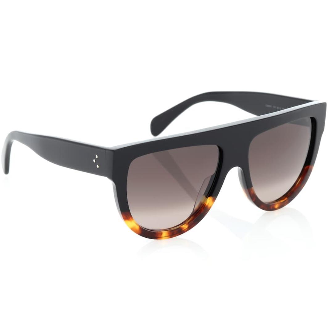 CELINE EYEWEAR Aviator acetate sunglasses BLACK / TORTOISE SHELL