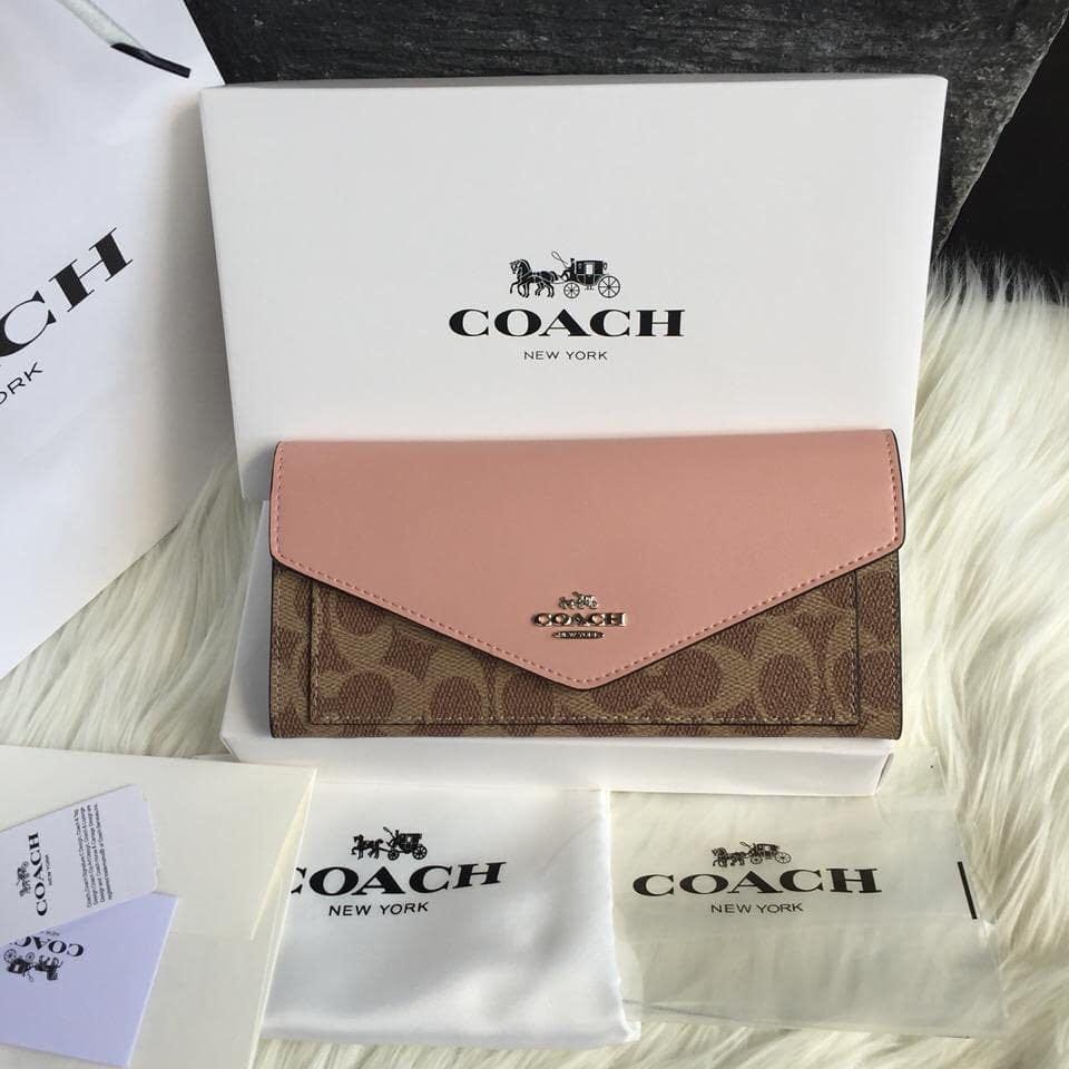Coach Wallet Auth NEW (READY 2 WARNA -silahkan di pilih yaaaa cantik2 warnanya soft dear...