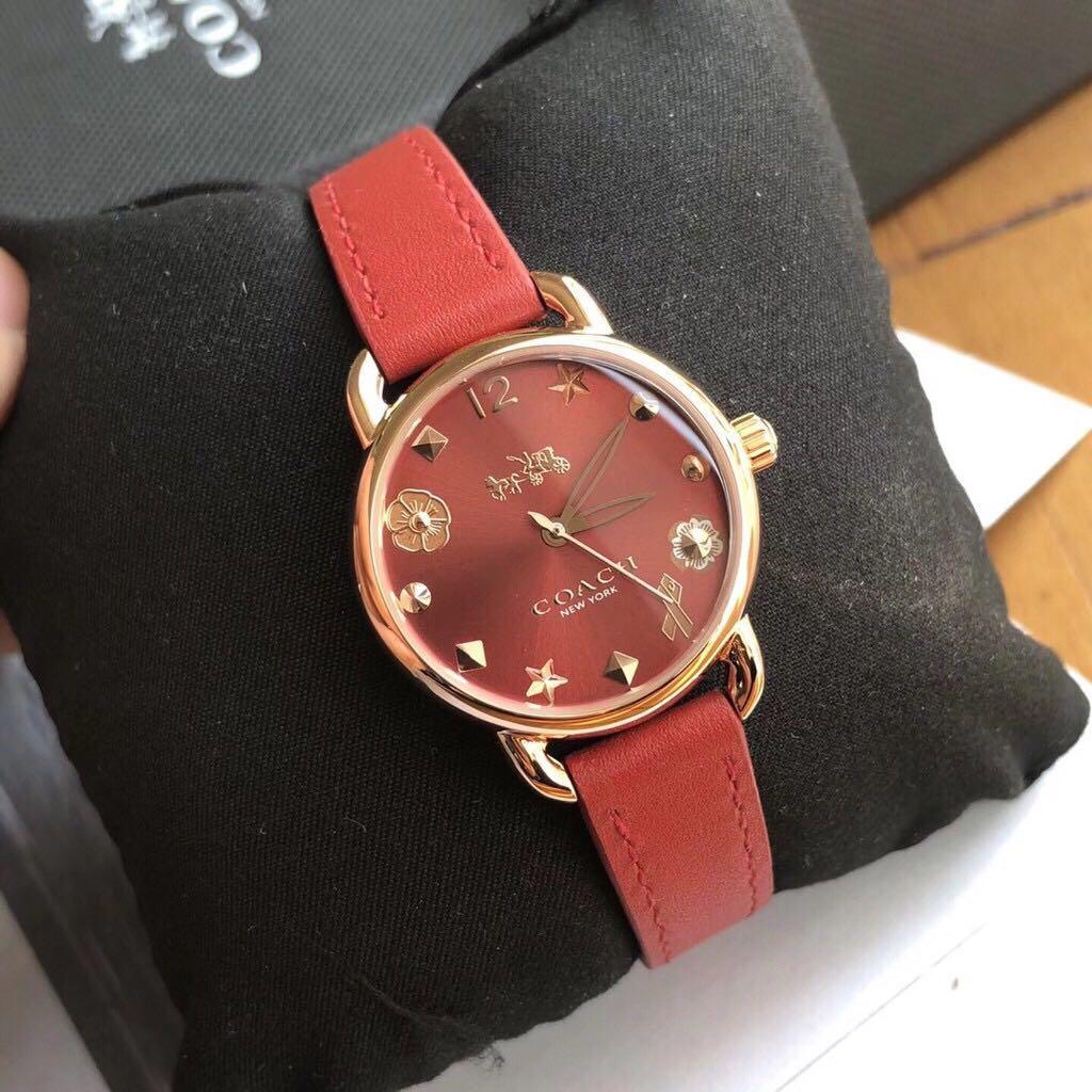 Coach watch leather 4 colour  original