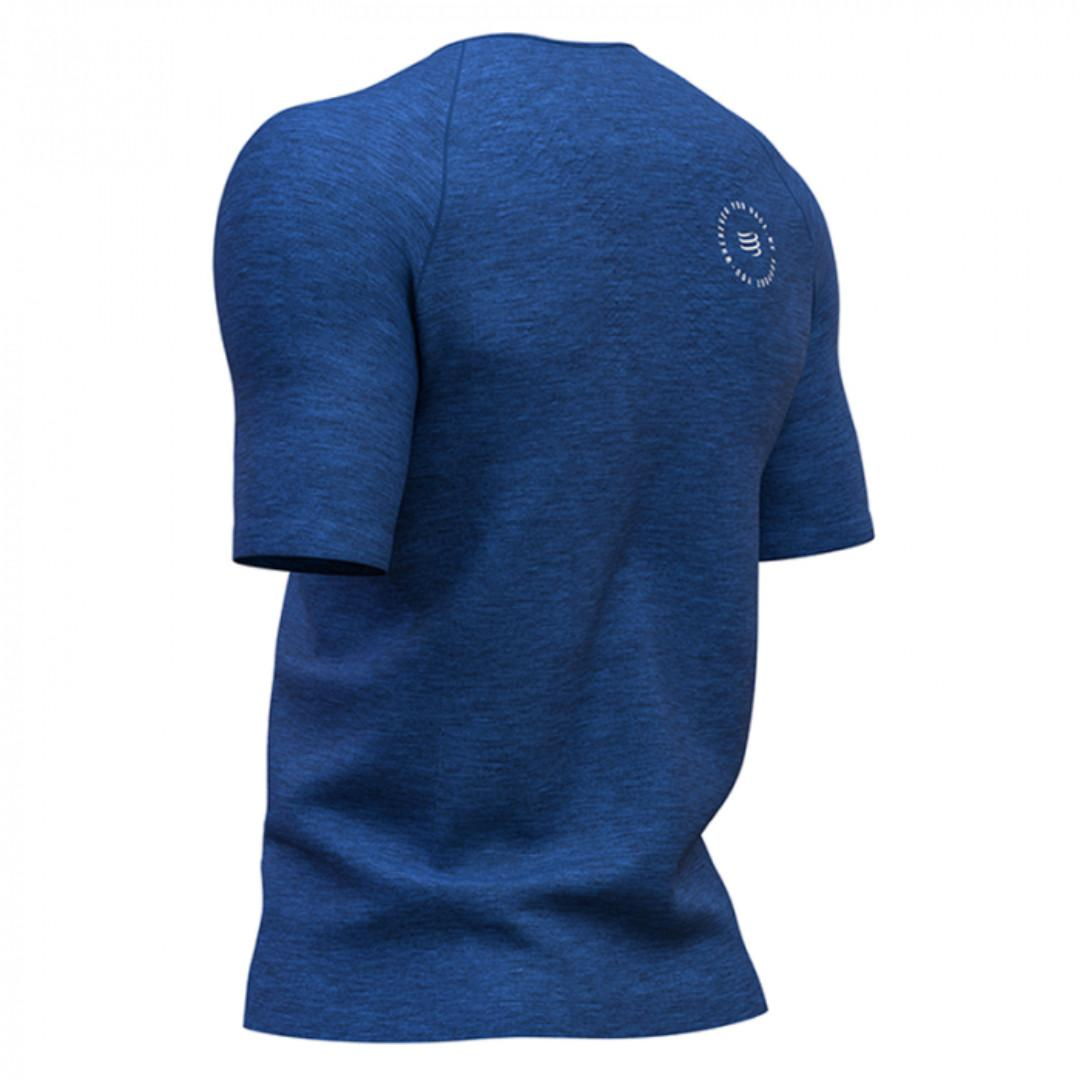 COMPRESSPORT Training Tshirt SS Blue - Mont Blanc 2019 Size M
