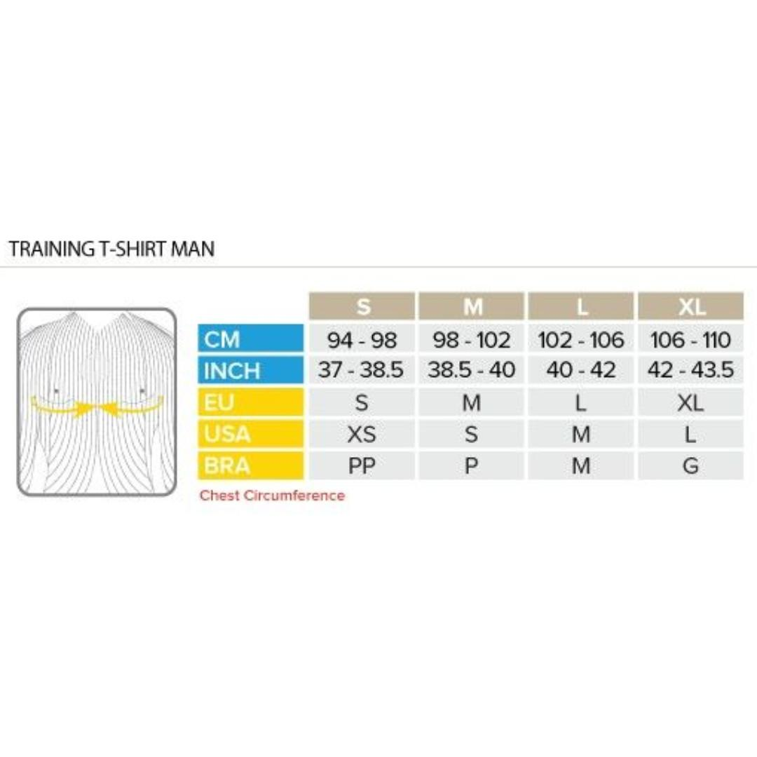 COMPRESSPORT Training Tshirt SS Grey - Mont Blanc 2019 Size S