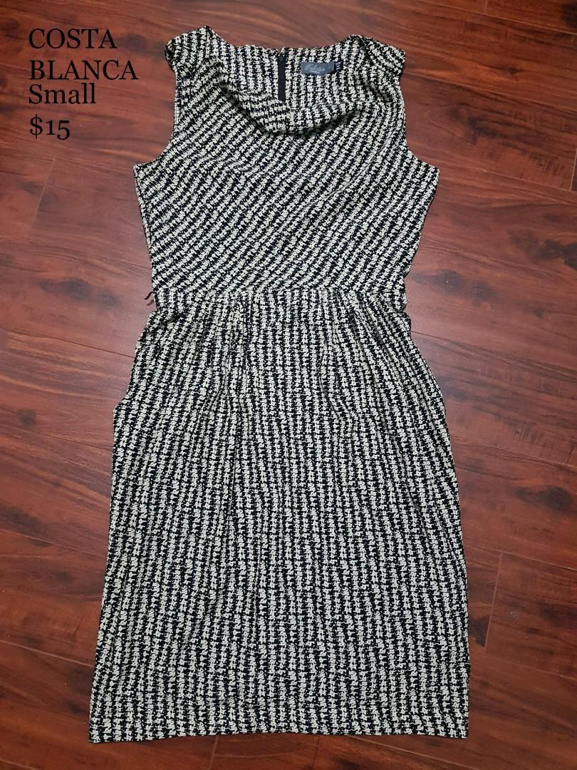 Costa Blanca Sleeveless Pattern Dress with Pockets