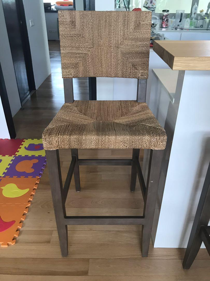 Super Crate Barrel Fiji Bar Stools On Carousell Gmtry Best Dining Table And Chair Ideas Images Gmtryco