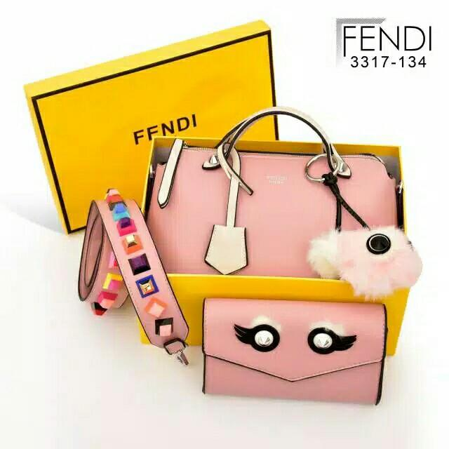D1 RESTOCK Again 3317-134 Fendi By the way monster 3tone (set Monster Clutch) Silver Hardware MG