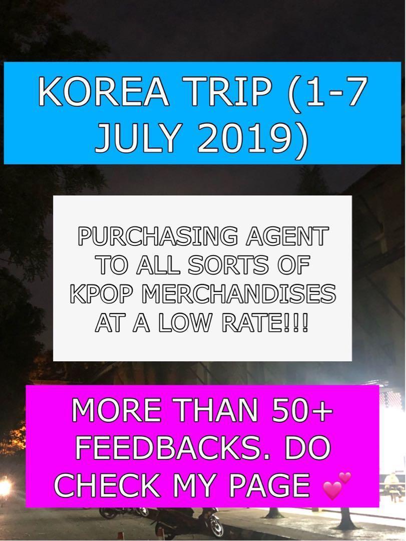 KOREA TRIP PURCHASING AGENT !! LOW RATE !! blackpink bts twice clc everglow monstaX gfriend