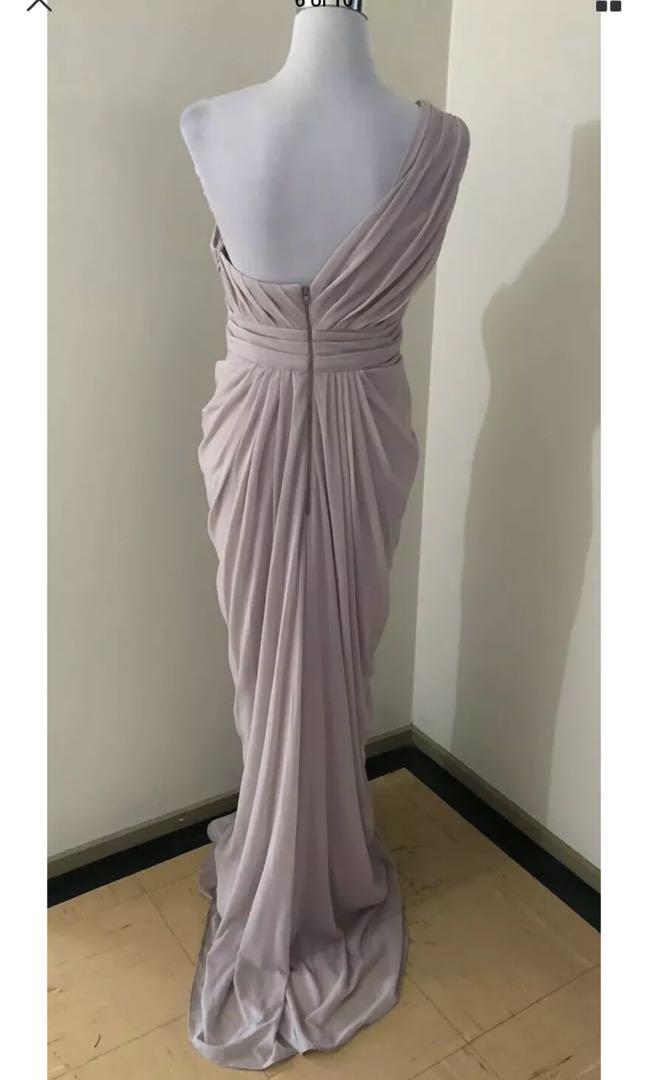 Ladies LES DEMOISELLE Blush One Shoulder Evening Dress. Size 10