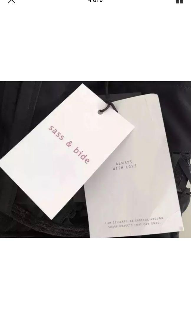 "Ladies SASS & BIDE ""Shines A Light"" Black Bustier.  Size M. $220"