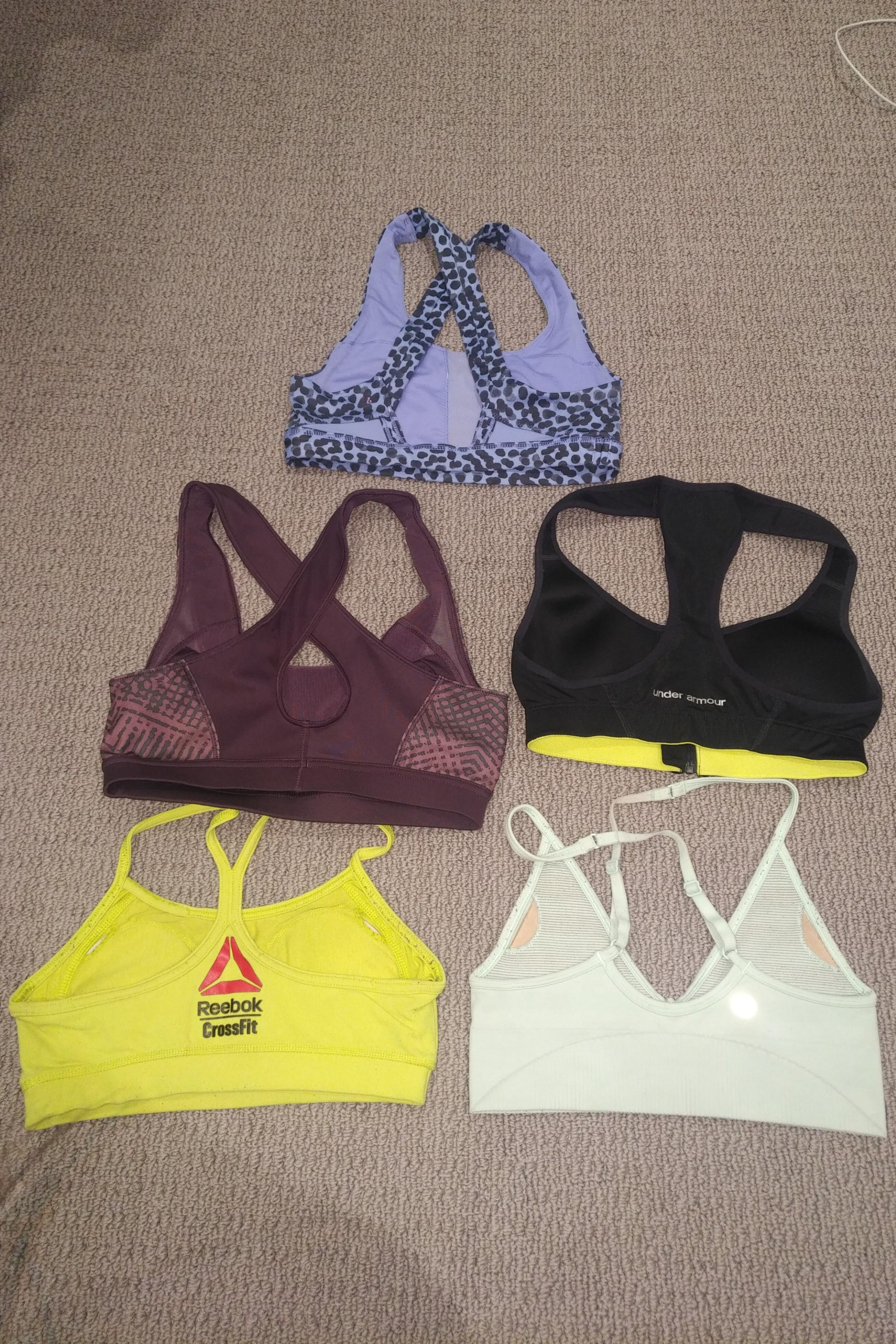 Lululemon, Adidas, Under Armour and Reebok Sports Bras