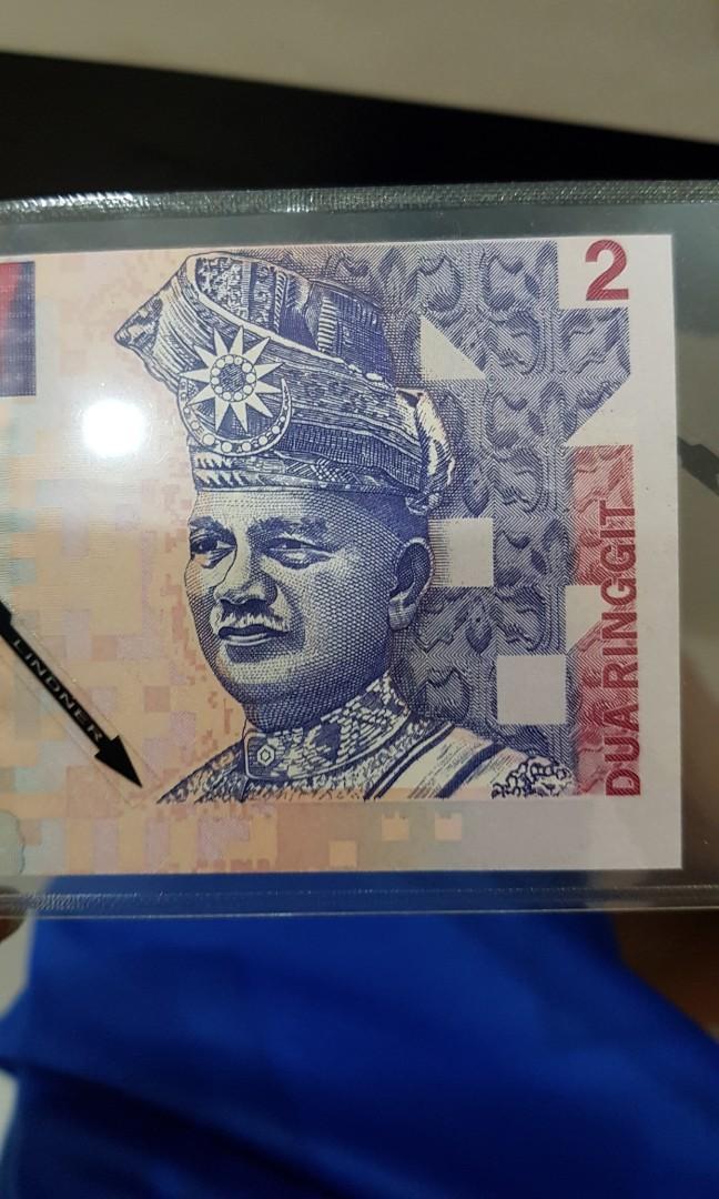 Printing error! Malaysia 2 ringgit 8th CB prefix shift error UNC