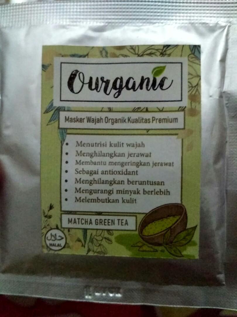 Masker organik 3gr halal