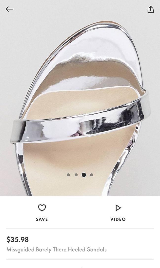 Missguided barely there heel sandals