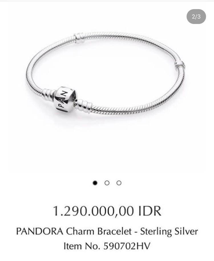 Pandora Bracelet Sterling Silver 590702HV NEW