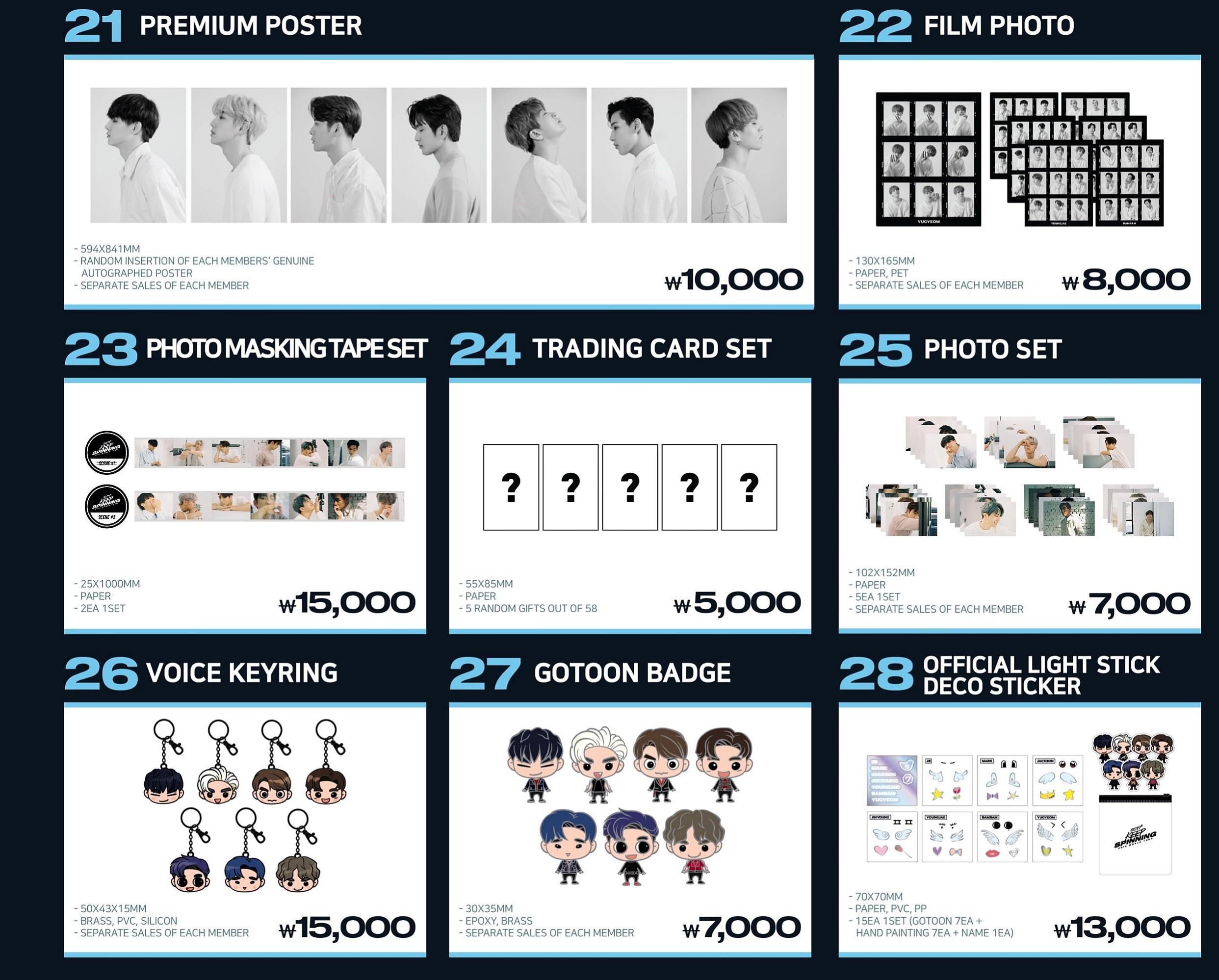 [Pre-Order] GOT7 KEEP SPINNING 2019 WORLD TOUR (Official Merchandise)