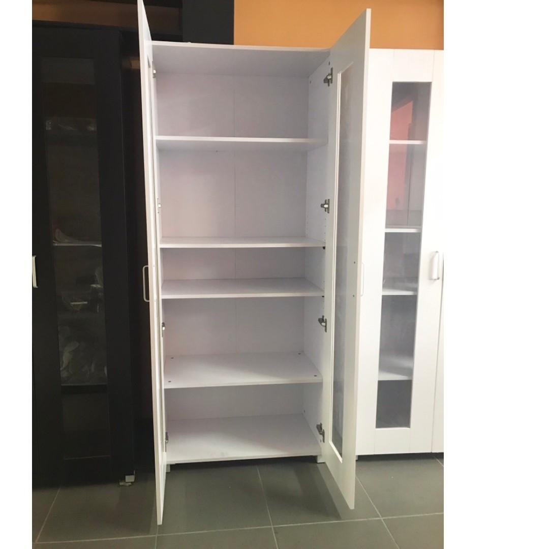 Selling brand new 2 glass door 5 shelve tall cupboard/pantry 1.92 M ( Black and White) at $ 220