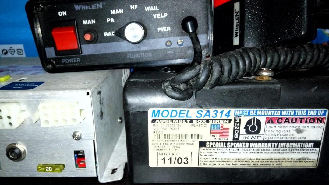 Sirine Mobil/motor Whelen