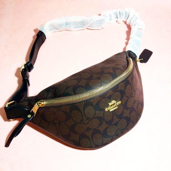 SPECIAL PRICE! LIMITED STOCK  COACH BUMBAG - MAHOGANY (DARK BROWN)