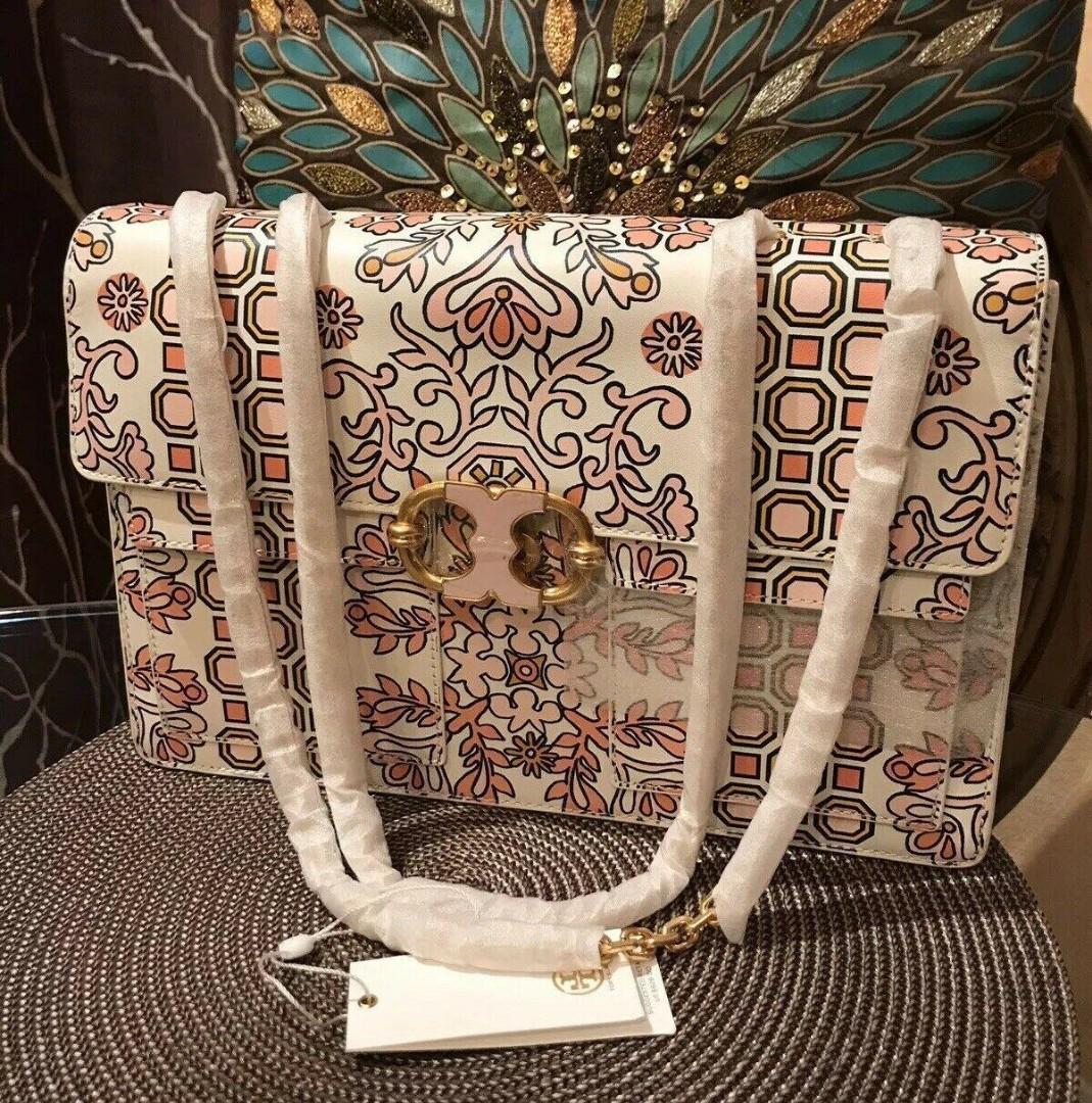 TB Gemini Link Printed Chain Shoulder Bag Hicks Garden 27x19x7cm