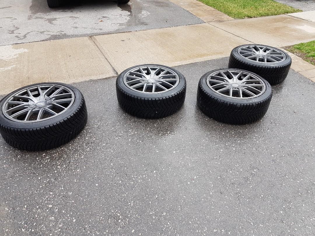 Touren TR60 rims 5x112 & 5x120 18x8 with winter tires