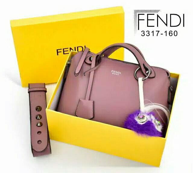 V1 3317-160 Fendi By The way # Monster With FF Velvet embossed Strap Black Hardware MG