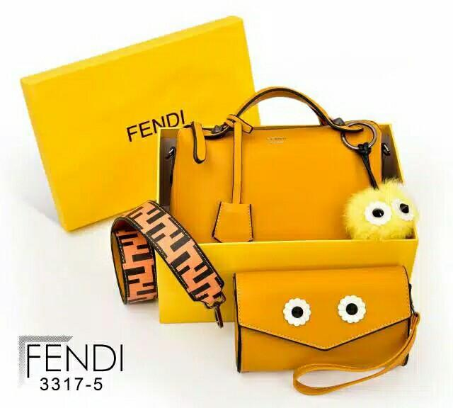 V1 3317-5 Fendi By the way Monster (set Monster Clutch & FF Velvet Strap)* Black Hardware MG
