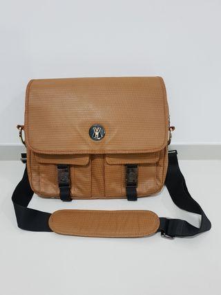Original Gaspard Yurkievich x Eastpak Arena Textured Leather Messenger Bag