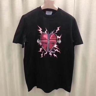 Prada Lighting Bolts Print Tee