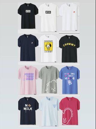HTB BT21 Uniqlo Shirts