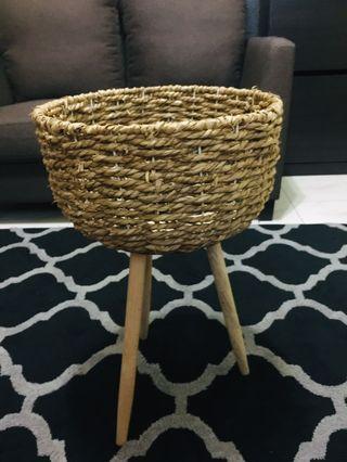 Rattan Basket Vase Large
