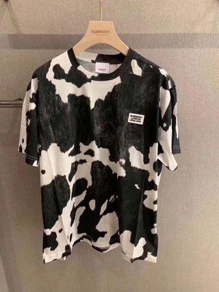 Burberry Cow Print Tee
