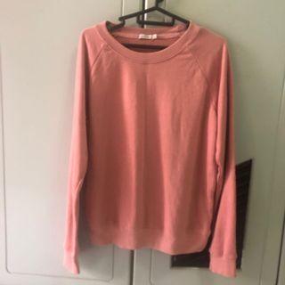 Bershka Pink Pullover Cardigan (Size M)