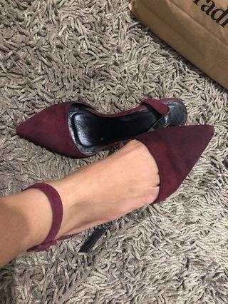 The executive heels red maroon