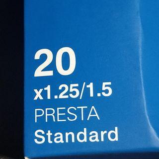 Giant Inner Tube 20 x 1.25-1.50 Presta Valve FV