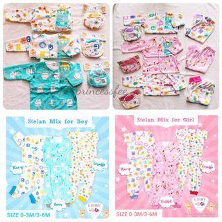 🚚 🌟instock - Premium Newborn baby clothes baby pyjamas set with mittens booties