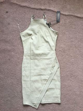 Green strap dress