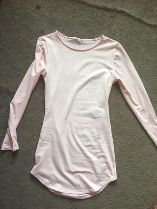 Basic light pink dress