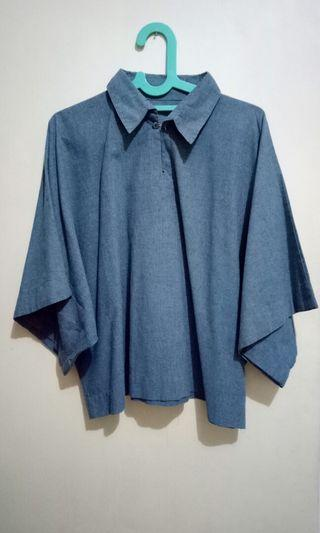 All size blue top