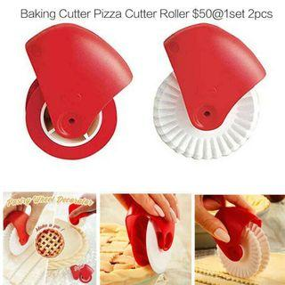 Baking Cutter Pizza Cutter Roller $50@1set 2pcs 手動切麵器披薩刀