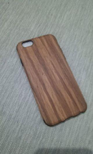 Case iPhone 6s motif kayu softcase