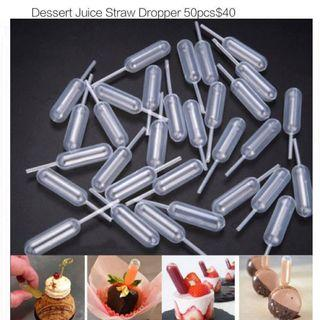 dessert juicer straw dropper 50pcs 一次性蛋糕吸管滴管