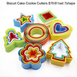 7shape set Fondant Biscuit Cake Cookie Maker Mold 蛋糕切模1set7種
