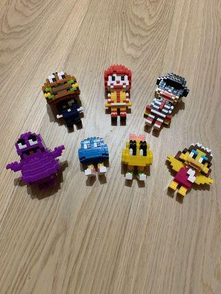 Ronald McDonald Mini-figures Set (7pcs)  (麥當勞叔叔迷你模型套裝)