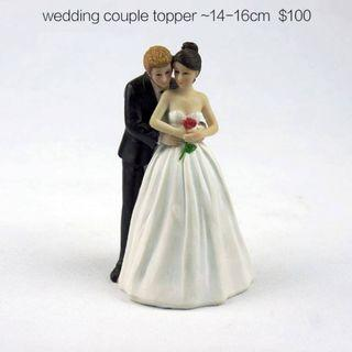 wedding couple cake topper 結婚蛋糕裝飾人偶