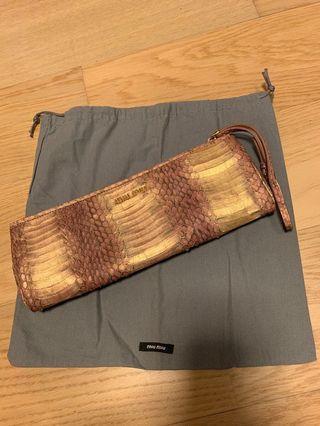Mui Mui Handbag 👝(蛇皮手提拉鍊長夾包)