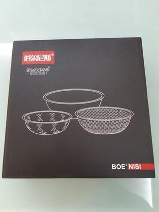 伯爾尼斯不鏽鋼臻尚米篩三件套 ( Bernese Dominate Kitchenware )
