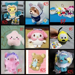 [GSS SALES] Soft Toys, Plushies, Pouches, Keychains
