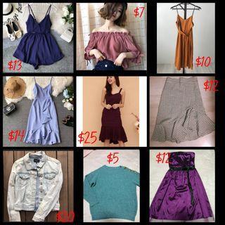 [GSS SALES] Ladies Tops, Dress, Skirt, Romper, Clothe!