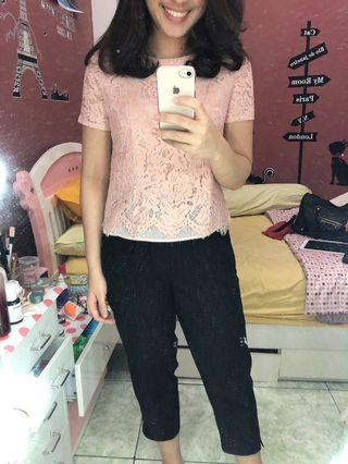 Lace pink top