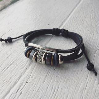 Beaded Boho Leather Bracelet