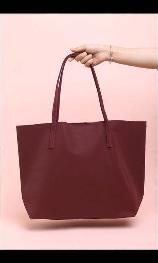 Tas Merche / Merche Bag Maroon Ashley Marsala